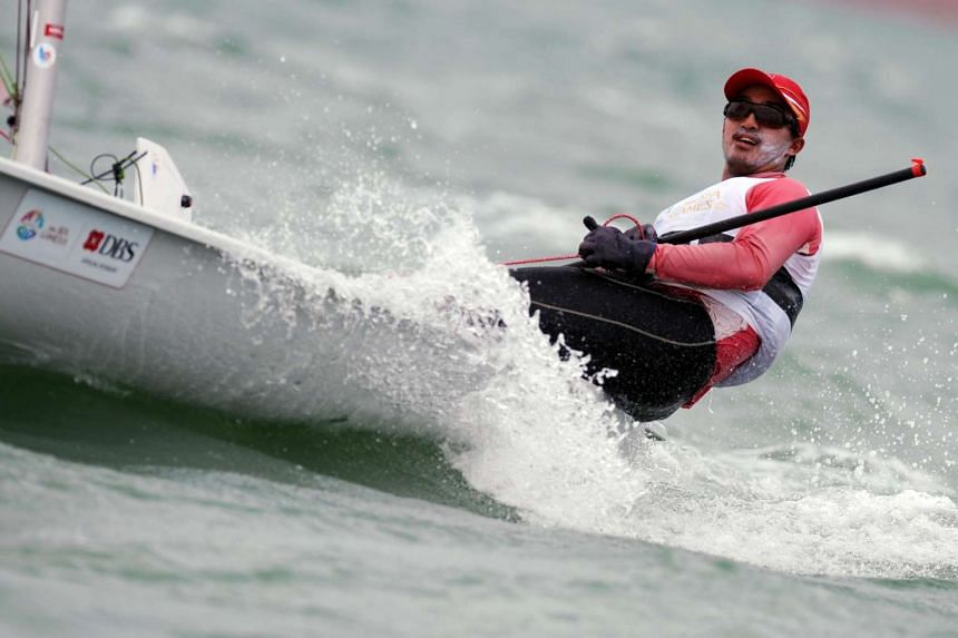 Singapore's Colin Cheng in action at the 28th SEA Games in Singapore.