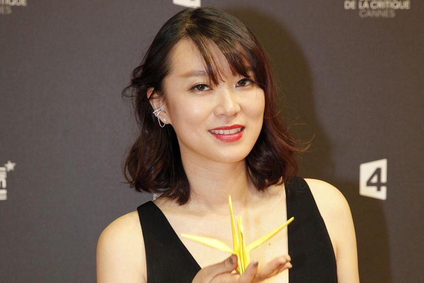 Chinese actress Huang Lu at the premiere of A Yellow Bird at Cannes Film Festival.