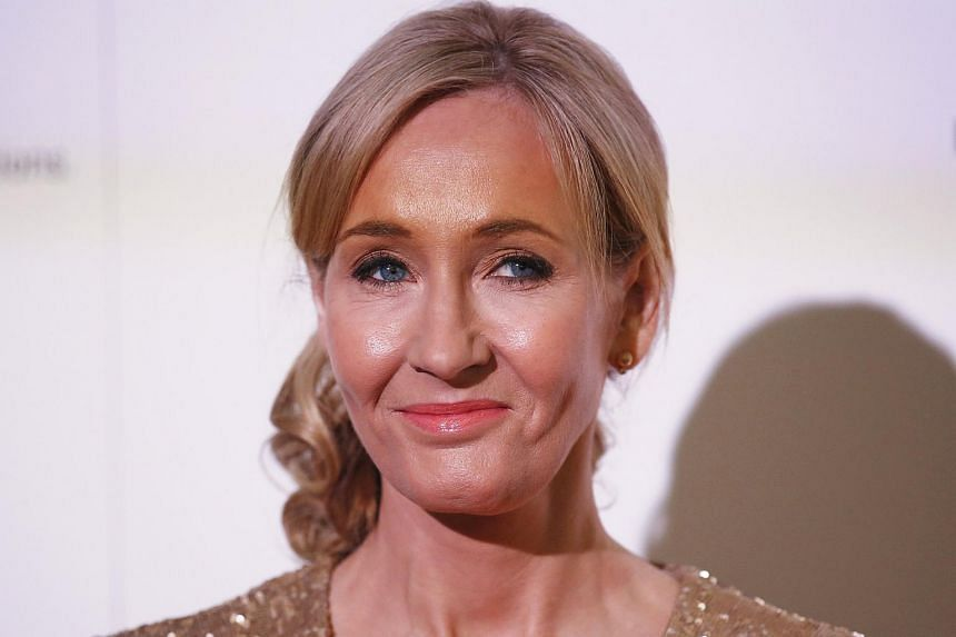 File photograph shows author J.K. Rowling hosting a fundraising evening at the Warner Bros. Studio in London.