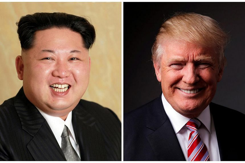A combination photo shows North Korean leader Kim Jong Un (left) and Republican US presidential candidate Donald Trump.