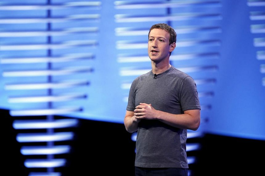 Mark Zuckerberg speaks on stage during the Facebook F8 conference in San Francisco, California.