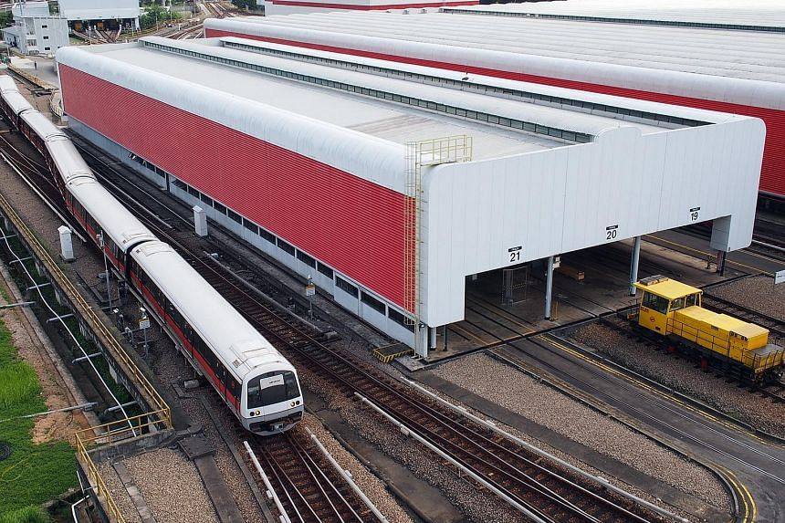 SMRT has partnered with local firm Sunseap to install a solar photovoltaic system at Bishan Depot. It is expected to meet the depot's lighting and air-conditioning needs, though train movements will not use solar power.