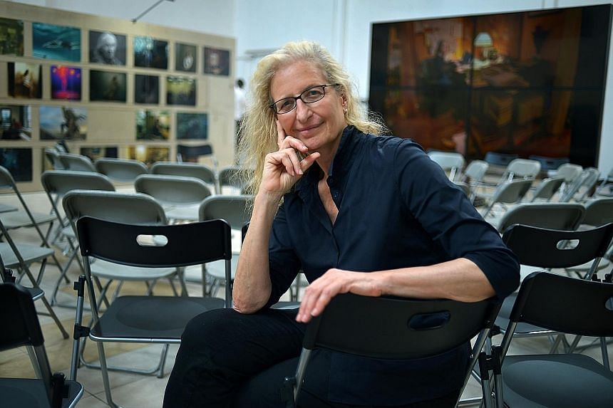 The exhibition, Women: New Portraits, by Annie Leibovitz (above) ends on Sunday.