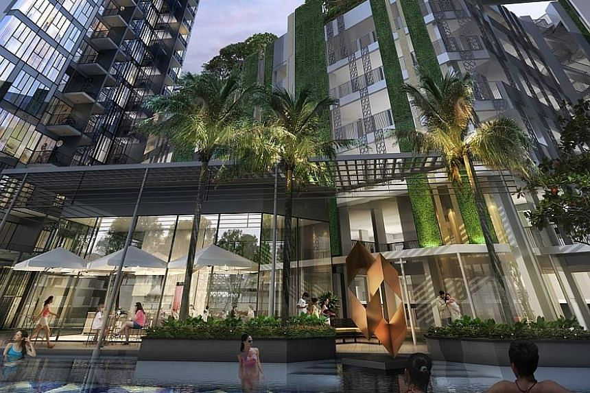 An artist's impression of Gem Residences at Toa Payoh. The 99-year leasehold project, comprising two tower blocks, is within walking distance of the Braddell MRT station.
