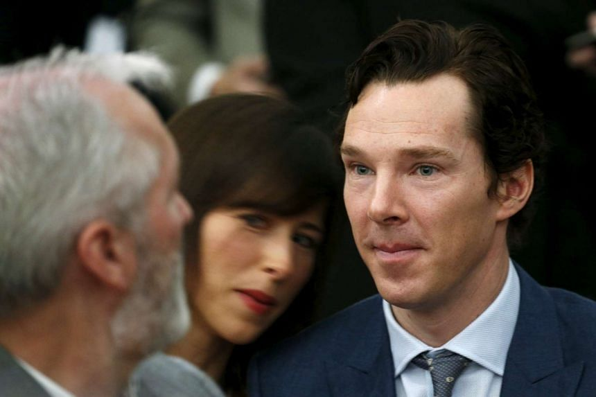 British actor Benedict Cumberbatch attending a town hall held by US President Barack Obama at the Royal Agricultural Halls in London, Britain on April 23, 2016.