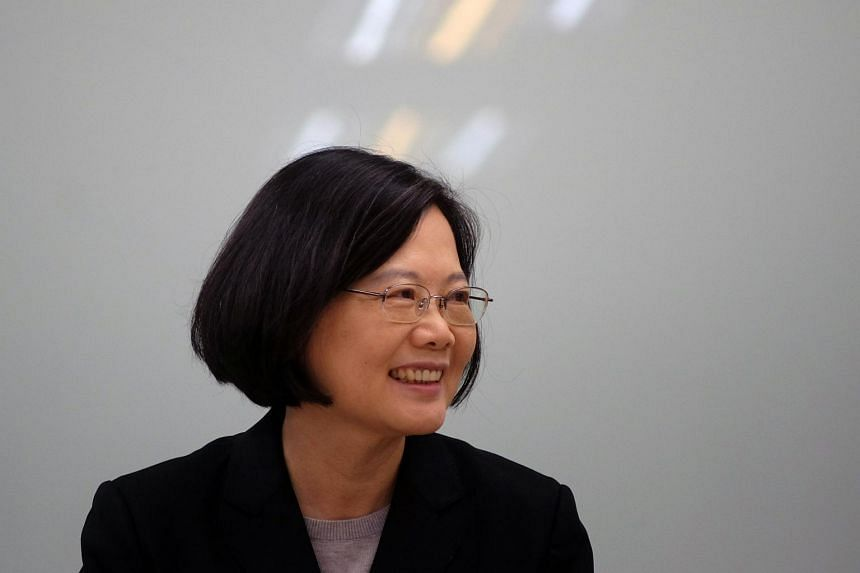 Taiwan's President-elect Tsai Ing-wen at a press conference in Taipei on April 22, 2016.
