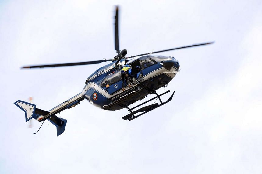 Four gendarmes were killed on May 20 when this helicopter crashed in a mountainous area of southwestern France.