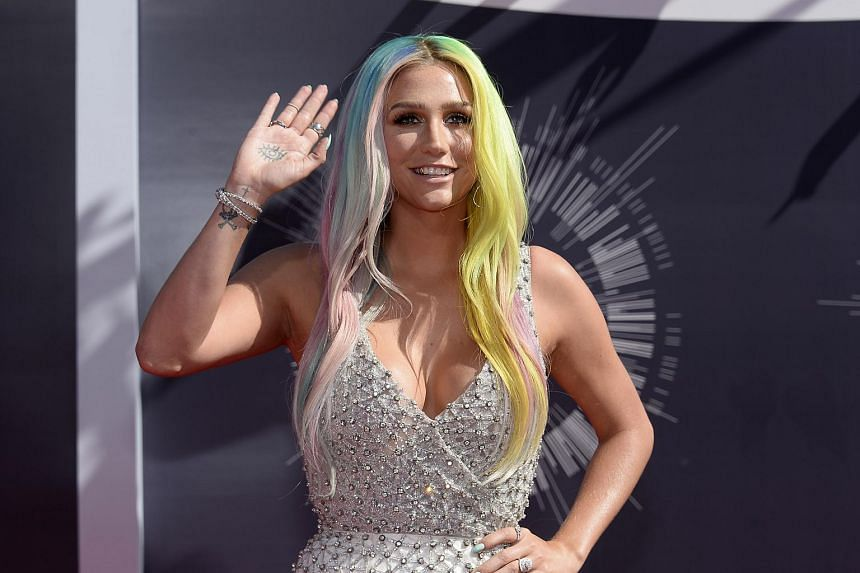Kesha arriving at the 2014 MTV Music Video Awards in Inglewood, California in this Aug 24, 2014, file photo.