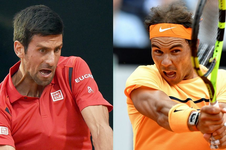 Novak Djokovic (left) and Rafael Nadal were seeded to meet in the French Open semi-finals.