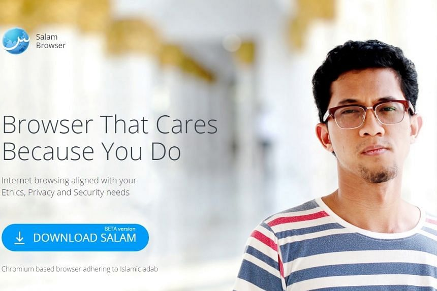 A screengrab of the syariah-compliant Web browser, Salam Browser, launched in Malaysia.
