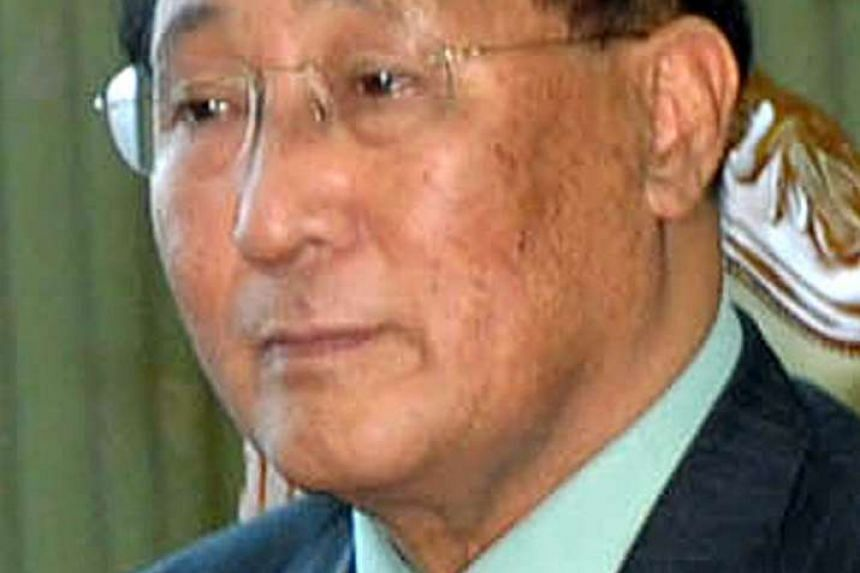 An undated file photo made available on May 21, 2016 shows Mr Kang Sok Ju, a top North Korean diplomat at and undiclosed location. According to state media reports, Mr Kang died of esophagus cancer on May 20, 2016. The 76-year-old negotiated a now-de