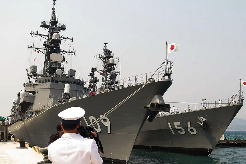 Vietnam has made it clear that Cam Ranh Bay facilities will not be for exclusive use by the United States. Two Japanese guided-missile destroyers docked at the strategic port on April 12 during a four-day call.