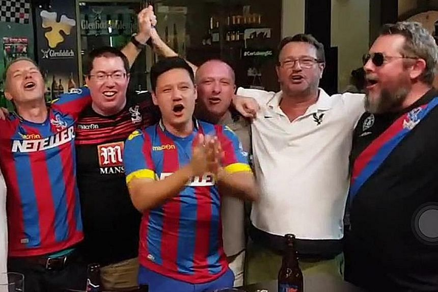 Singapore-based Palace fans have flown to London to catch their club's second FA Cup final appearance at Wembley tonight.
