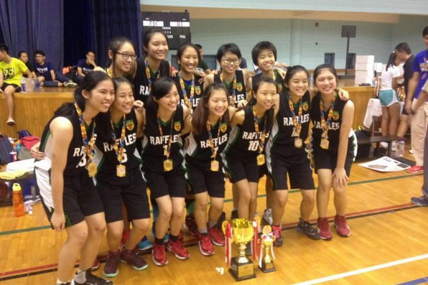 Raffles Institution (RI) swept the Schools National A Division boys' and girls' basketball championships.