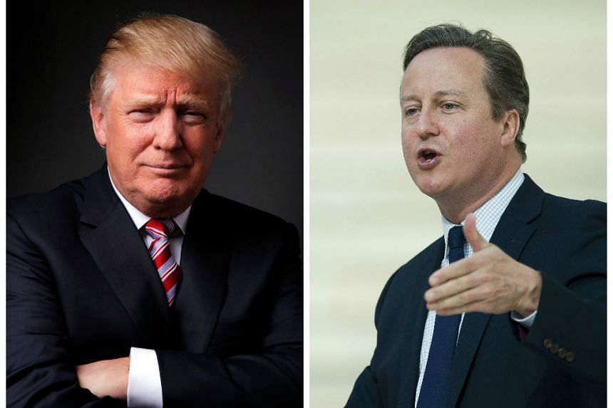 Republican US presidential candidate Donald Trump (left) said British Prime Minister David Cameron had asked him to visit, but a UK spokesman said no invitation had been extended.
