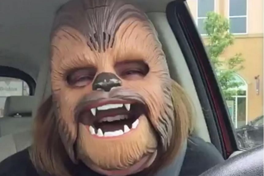 Ms Candace Payne found fame this week after filming a Facebook Live video of herself in an electronic Chewbacca mask.