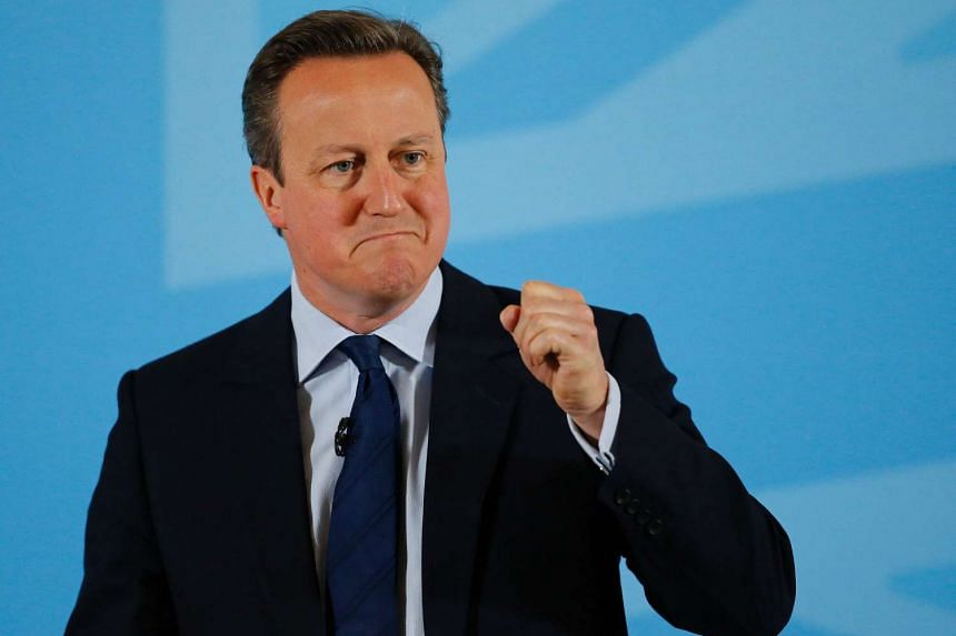 Britain's Prime Minister David Cameron (above) has said that he would be prepared to meet Donald Trump.