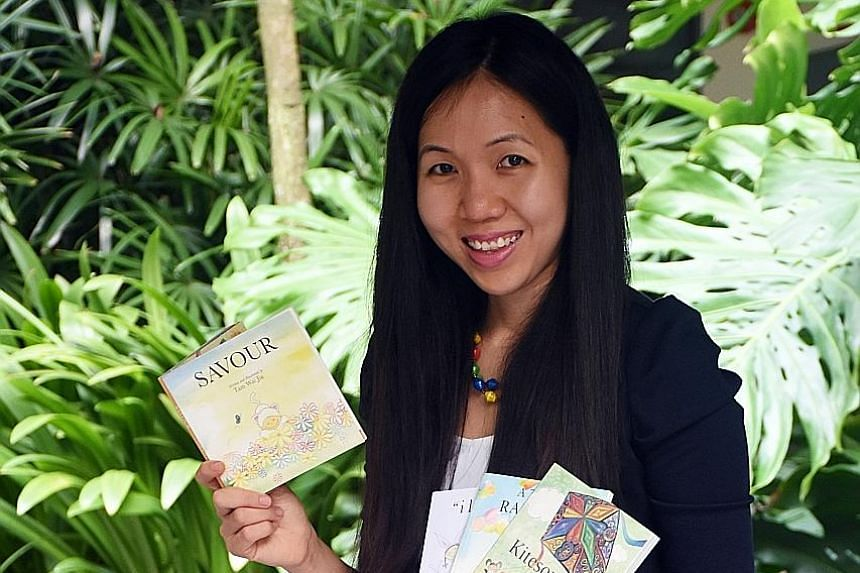 Ms Tam and her husband Cliff were in Uganda on a mission trip for a year. They returned to Singapore last June. Now a doctor, the four books Ms Tam Wai Jia, 29, has written were used to raise funds for various causes. After finishing her bond next ye
