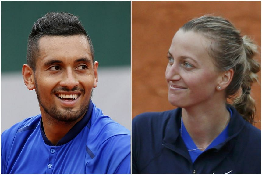 Nick Kyrgios (left) and Petra Kvitova reached the French Open second round on Sunday (May 22).