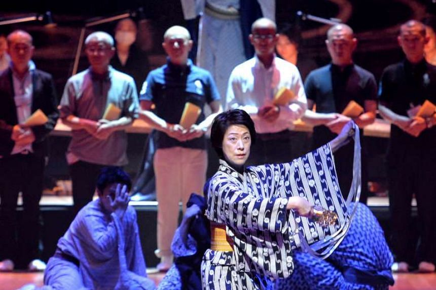 Musical and dance epic Himiko: Memories Of The Sun Goddess on show at the Esplanade Concert Hall.