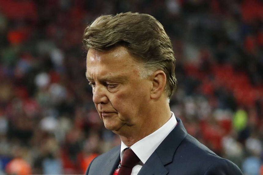 Manchester United manager Louis Van Gaal at the end of the FA Cup final.