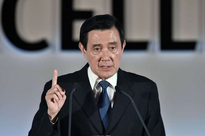 President Ma Ying-jeou speaks at a loacl designing awards ceremony in Taipei.
