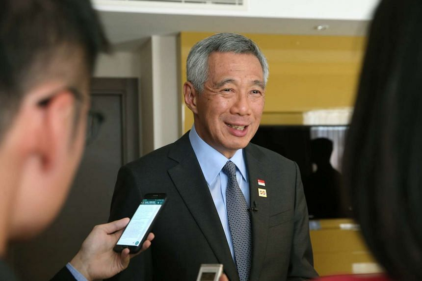 PM Lee speaking to the Singapore media on May 20, 2016.