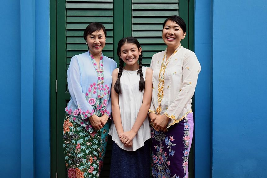 (From left) Karen Lim, Melissa Hecker and April Kong will perform different stages of Emily's character in Emily The Musical presented by Musical Theatre Limited.