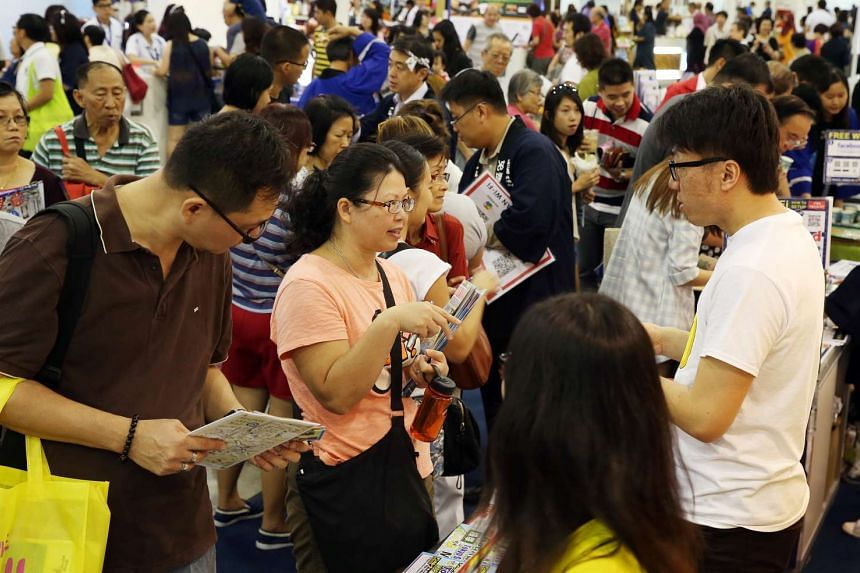 Visitors at the Natas travel fair at the Singapore Expo on March 5, 2016.