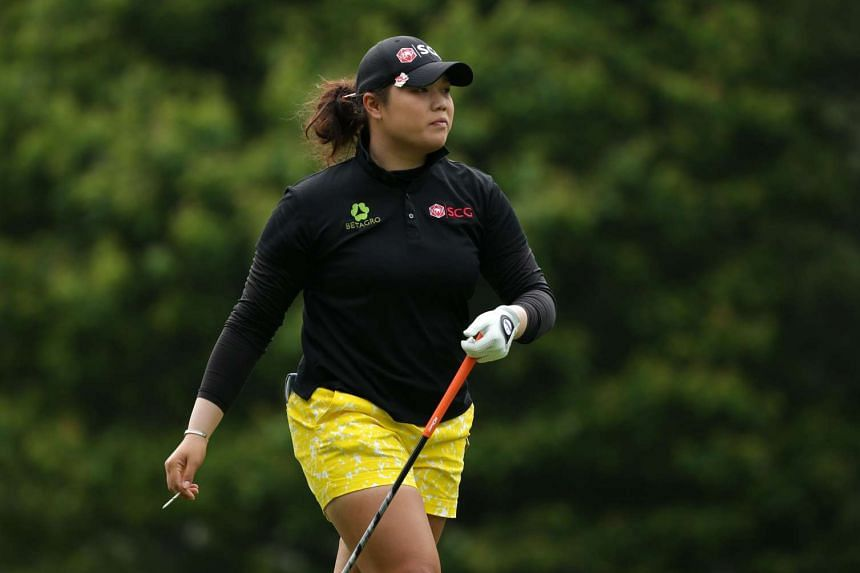 Ariya Jutanugarn of Thailand walks off the tee on the third hole during the final round of the Kingsmill Championship presented by JTBC on the River Course at Kingsmill Resort on May 22, 2016 in Williamsburg, Virginia.