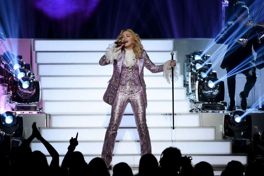 Madonna performs a tribute to Prince onstage during the 2016 Billboard Music Awards at T-Mobile Arena on May 22, 2016 in Las Vegas, Nevada.