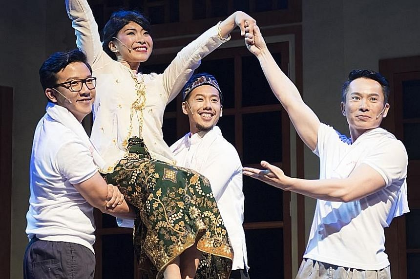 April Kong as the title character in Emily The Musical.