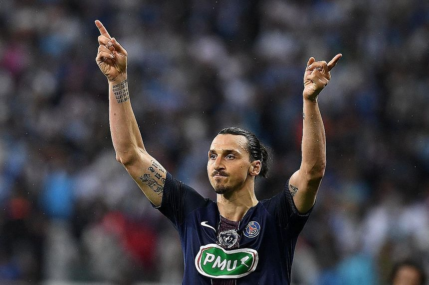 Zlatan Ibrahimovic marked his last game for PSG with two goals and an assist to help his side complete a domestic treble.