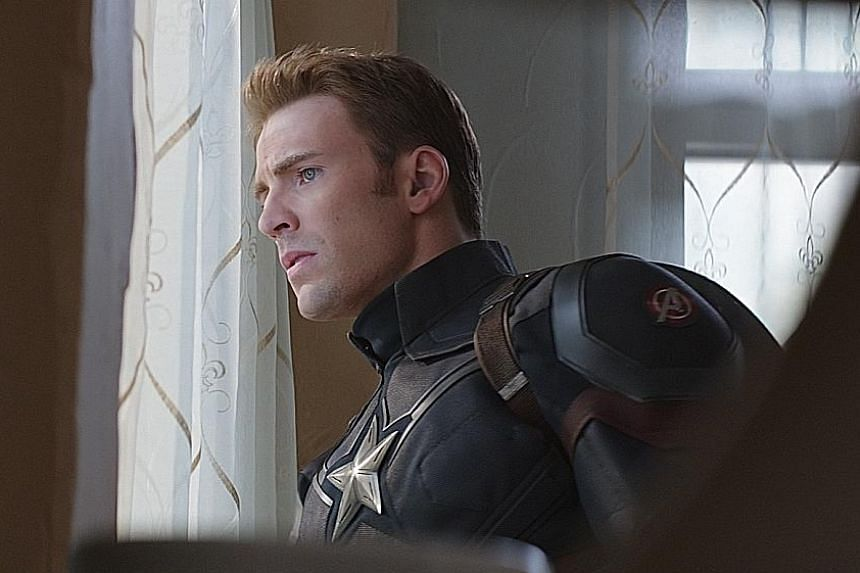 Chris Evans, who stars as Captain America, is almost entirely bound up in superhero work.