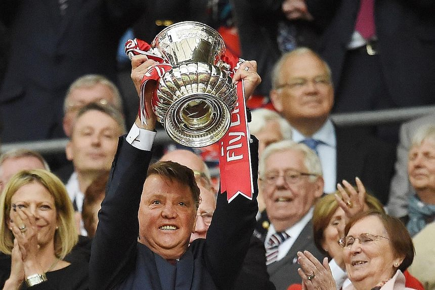 Above: Manchester United manager Louis van Gaal may have led his side to the FA Cup but failure to qualify for next season's Champions League may ultimately cost him his job. Right: Van Gaal's legacy may yet live on in the form of the youngsters he b