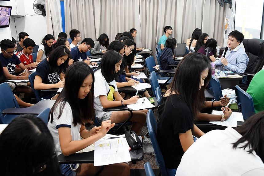 Economics tutor Anthony Fok, 32, has about 200 students and 40 names on his waiting list. Some even come from Johor Baru.