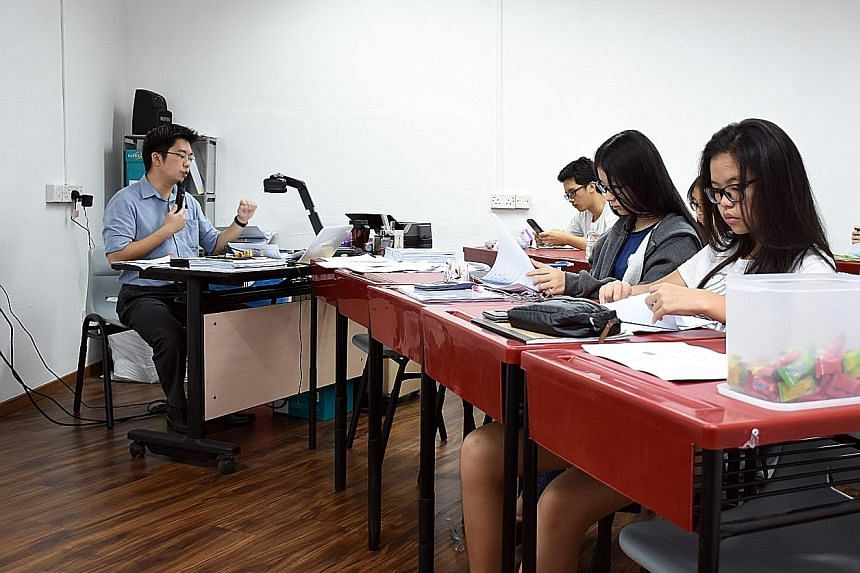 Mr Chee keeps class sizes small - each class has about seven students.