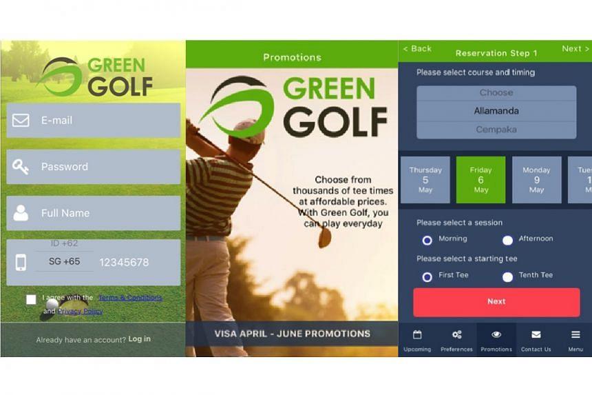 Live golf booking app Green Golf.