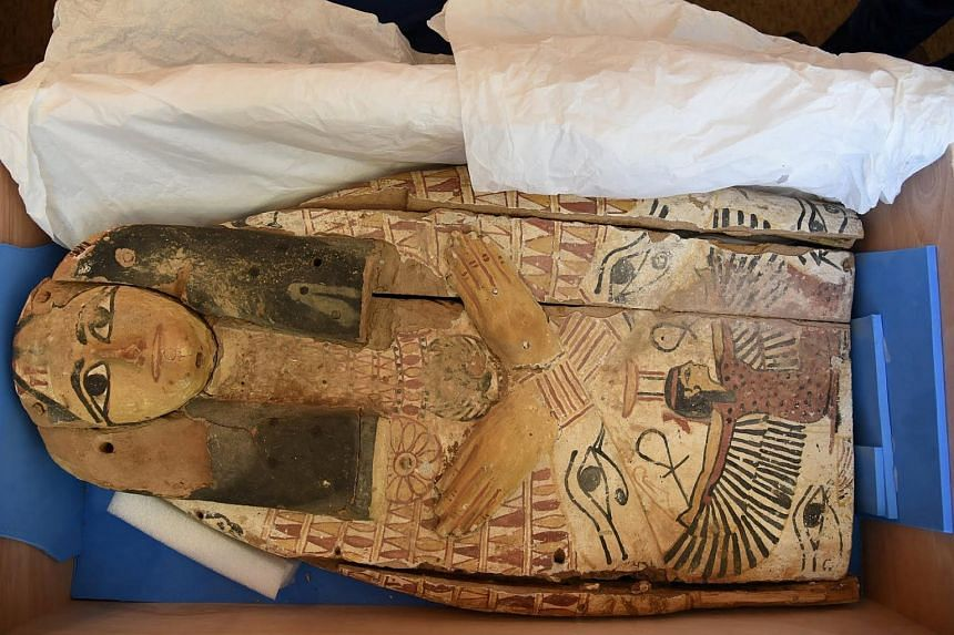 An ancient sarcophagi cover, which Israel handed back to Egypt.