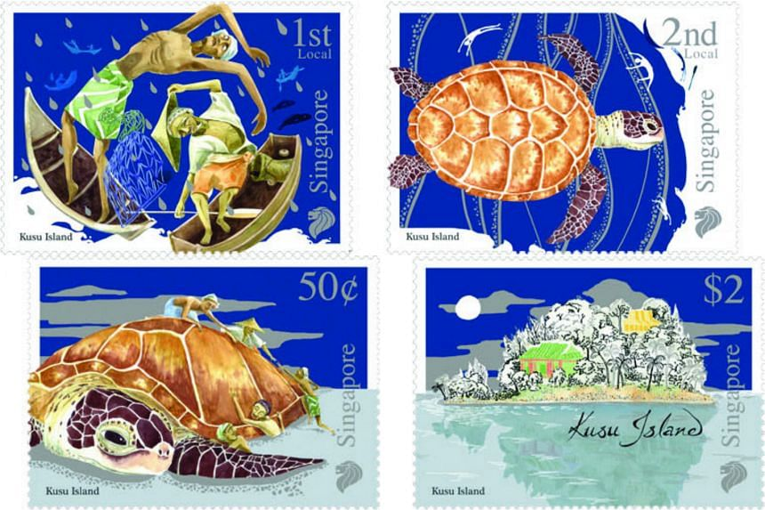 SingPost's Myths and Legends stamp set featuring the Kusu Island folktale.