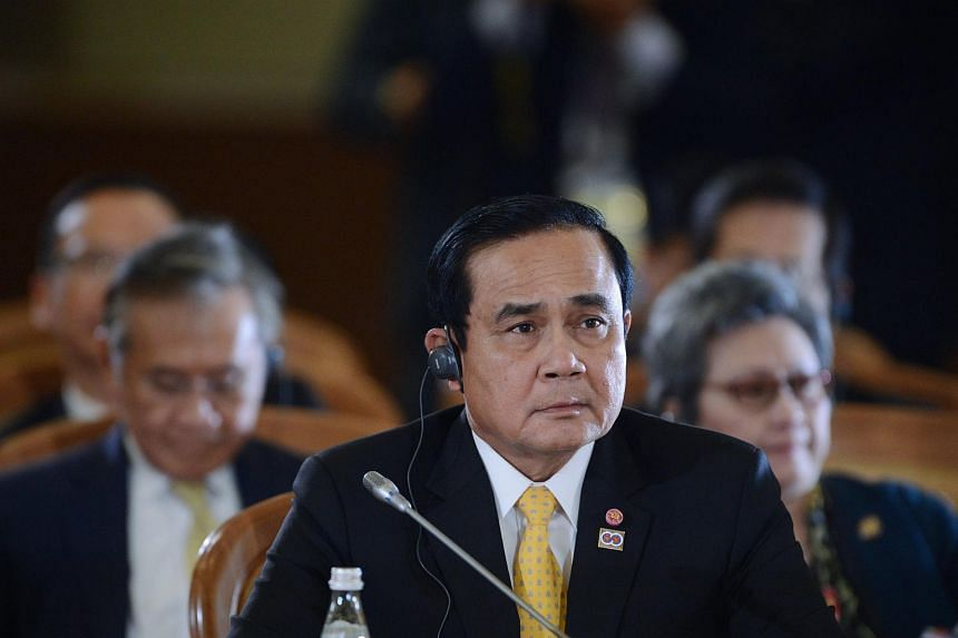 Thai Prime Minister Prayut Chan-o-cha attending a plenary session of the ASEAN-Russia Commemorative Summit, on May 20, 2016.