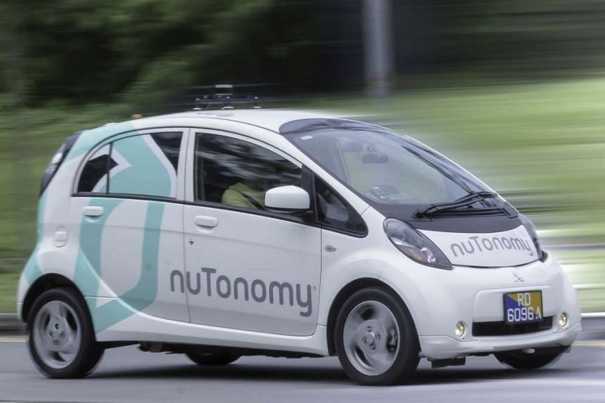 The nuTonomy self-driving car being tested in Singapore.