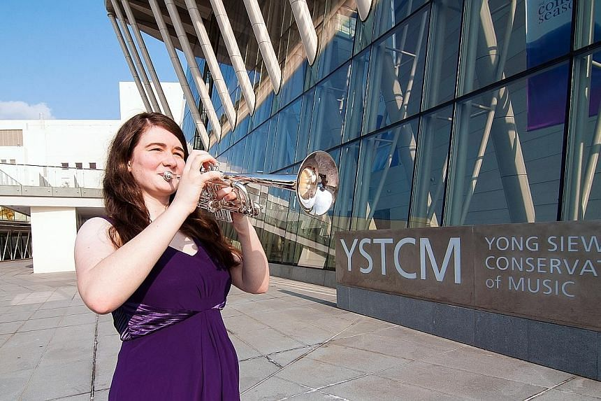 Trumpet player Bethany Nette founded a music-and- wellness programme which brought music to Alexandra Hospital to benefit patients and staff.