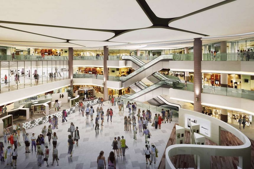An artist's impression of the main atrium in the new-look Compass One mall.