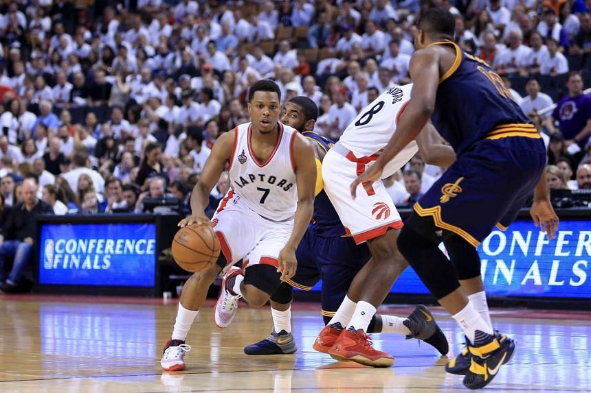 Kyle Lowry handles the ball against the Cleveland Cavaliers in Game 4 of the Eastern Conference finals, on May 23, 2016, in Toronto.