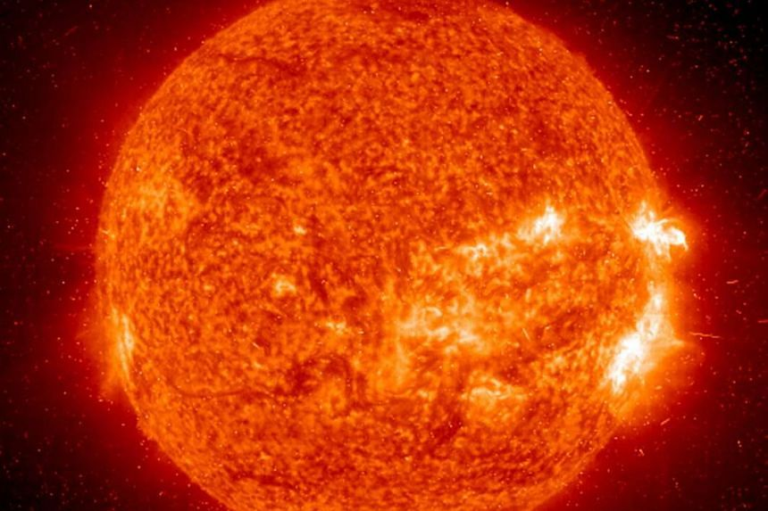 An image of the sun captured by NASA's Solar Dynamics Observatory in April 2016.