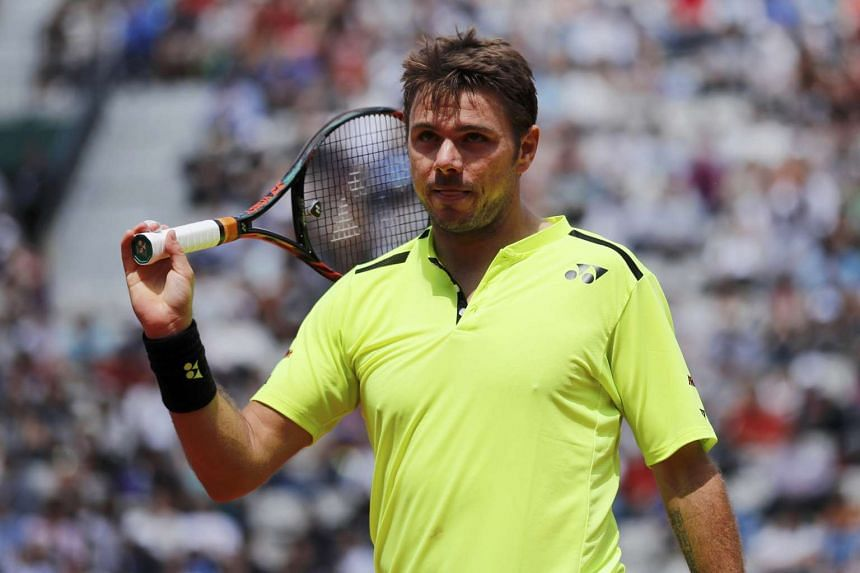 Stan Wawrinka of Switzerland during his match against Japan's Taro Daniel on May 25, 2016.