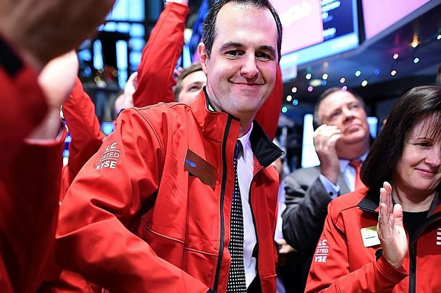 Lending Club's stock had fallen over 40 per cent since the resignation of the CEO Mr Laplanche (above) was announced on May 9, after an internal probe found that the firm had knowingly sold US$22 million (S$30.4 million) of loans that the buyer did n
