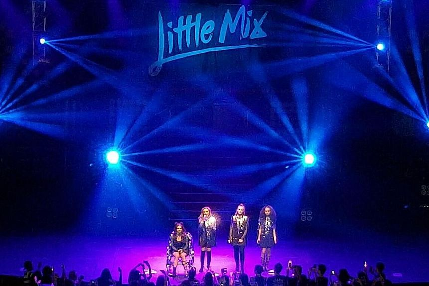 Little Mix - comprising (from far left) Jesy Nelson, Jade Thirlwall, Perrie Edwards and Leigh-Anne Pinnock - delivered energetic moves and impressive singing with sass.
