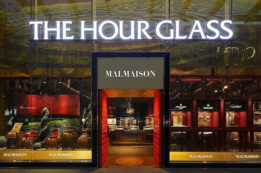 """Malmaison by The Hour Glass in Orchard Road. The company said in its report that the global economic outlook has impacted overall sentiment. It anticipated a tightening of global demand for luxury goods, although it remains """"cautiously optimistic""""."""